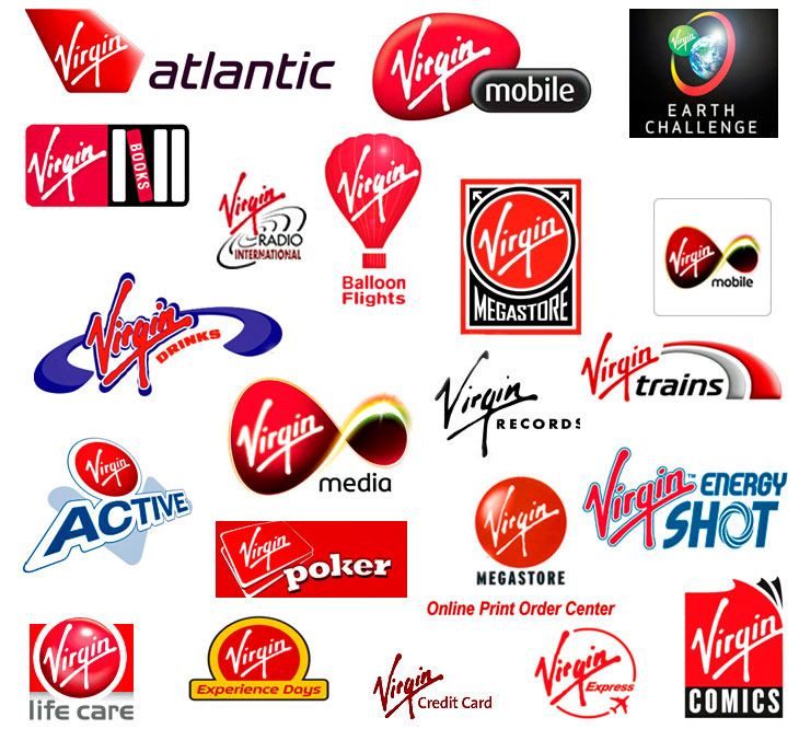 virgin-logos Interim brand management